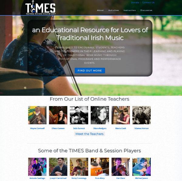 Traditional Irish Music Education Society website